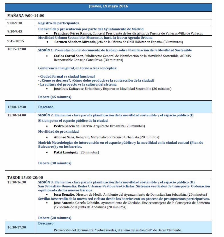 Programa Ayto. Madrid ONU 19 mayo