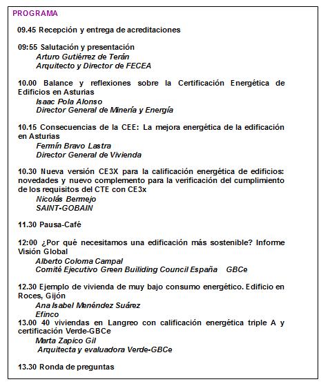 Programa FECEA 23 mayo
